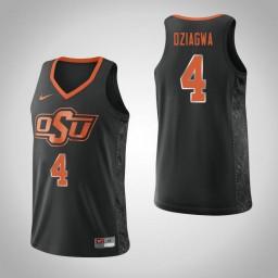 Women's Oklahoma St Cowboys #4 Thomas Dziagwa Authentic College Basketball Jersey Black