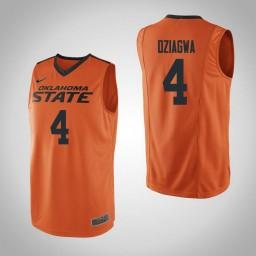Women's Oklahoma St Cowboys #4 Thomas Dziagwa Authentic College Basketball Jersey Orange