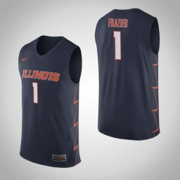 Illinois Fighting Illini #1 Trent Frazier Authentic College Basketball Jersey Navy