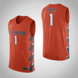 Illinois Fighting Illini #1 Trent Frazier Authentic College Basketball Jersey Orange