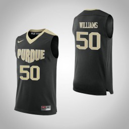 Purdue Boilermakers #50 Trevion Williams Authentic College Basketball Jersey Black