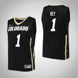 Women's Colorado Buffaloes #1 Tyler Bey Authentic College Basketball Jersey Black