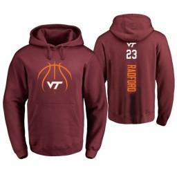 Men's Virginia Tech Hokies #23 Tyrece Radford College Basketball Personalized Backer Hoodie Maroon