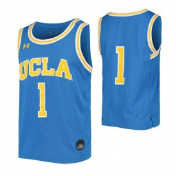 UCLA Bruins #1 Authentic College Basketball Jersey Blue