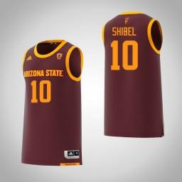 Women's Arizona State Sun Devils #10 Vitaliy Shibel Authentic College Basketball Jersey Maroon