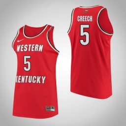 Western Kentucky #5 Whitney Creech Performance Authentic College Basketball Jersey Red