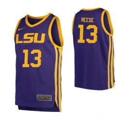 LSU Tigers #13 Will Reese Authentic College Basketball Jersey Purple