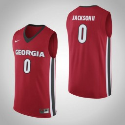 Women's Georgia Bulldogs #0 William Jackson II Authentic College Basketball Jersey Red