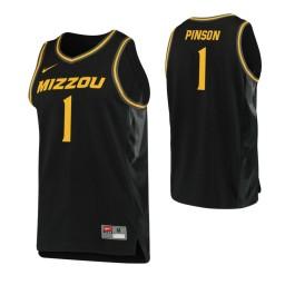 Youth Missouri Tigers #1 Xavier Pinson Replica College Basketball Jersey Black