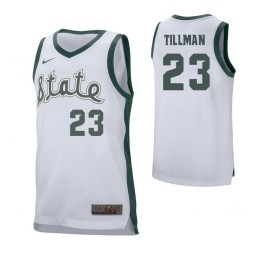 Youth Michigan State Spartans #23 Xavier Tillman Authentic College Basketball Jersey White