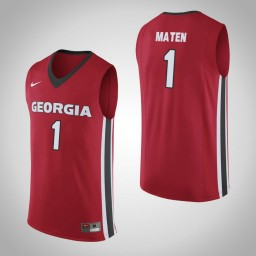 Women's Georgia Bulldogs #1 Yante Maten Authentic College Basketball Jersey Red