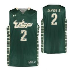 South Florida Bulls #2 Zack Dawson III Authentic College Basketball Jersey Green