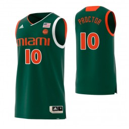 Youth Miami Hurricanes #10 Dominic Proctor Authentic College Basketball Jersey Green