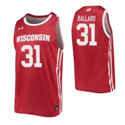Michael Ballard Authentic College Basketball Jersey Red Wisconsin Badgers