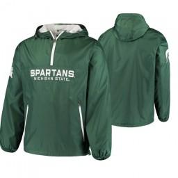Michigan State Spartans Green Base Runner Half-Zip Jacket