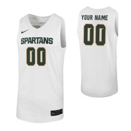Michigan State Spartans Replica Custom Jersey White
