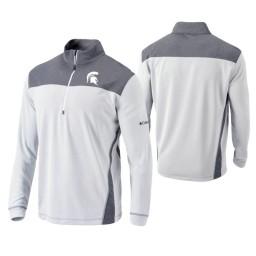 Michigan State Spartans White Omni-Wick Standard Quarter-Zip Jacket