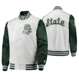 Michigan State Spartans White Green The Legend Full-Snap Jacket
