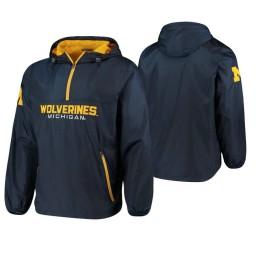 Michigan Wolverines Navy Base Runner Half-Zip Jacket