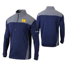Michigan Wolverines Navy Omni-Wick Standard Quarter-Zip Jacket