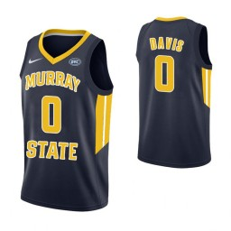Women's Murray State Racers #0 Mike Davis Authentic College Basketball Jersey Navy