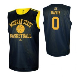 Women's Murray State Racers #0 Mike Davis Navy Blue Authentic College Basketball Jersey