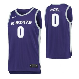Kansas State Wildcats #0 Mike McGuirl Purple Authentic College Basketball Jersey