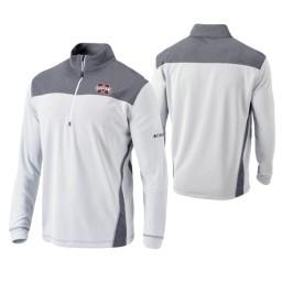 Mississippi State Bulldogs White Omni-Wick Standard Quarter-Zip Jacket
