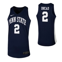 Myles Dread Authentic College Basketball Jersey Navy Penn State Nittany Lions