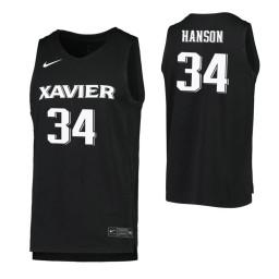 Women's Myles Hanson Authentic College Basketball Jersey Black Xavier Musketeers