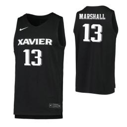 Women's Naji Marshall Authentic College Basketball Jersey Black Xavier Musketeers