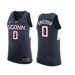 Women's Uconn Huskies #0 Antwoine Anderson Authentic College Basketball Jersey Navy