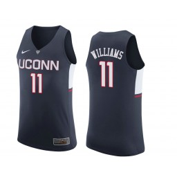 Women's Uconn Huskies #11 Kwintin Williams Authentic College Basketball Jersey Navy