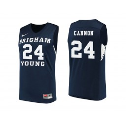 Women's BYU Cougars #24 McKay Cannon Authentic College Basketball Jersey Navy