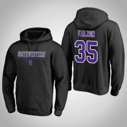 Northwestern Wildcats #35 Aaron Falzon Men's Navy College Basketball Hoodie