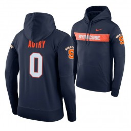 Syracuse Orange #0 Adrian Autry Men's Navy Pullover Hoodie