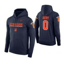 Syracuse Orange #0 Adrian Autry Men's Navy Hoodie