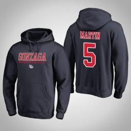 Gonzaga Bulldogs #5 Alex Martin Men's Navy College Basketball Hoodie