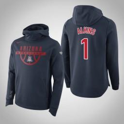 Arizona Wildcats #1 Alkins Men's Navy Elite College Basketball Hoodie
