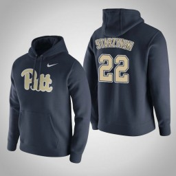 Pittsburgh Panthers #22 Anthony Starzynski Men's Navy Pullover Hoodie