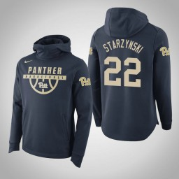 Pittsburgh Panthers #22 Anthony Starzynski Men's Navy College Basketball Hoodie