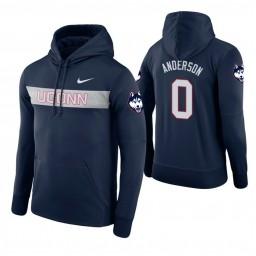 Uconn Huskies #0 Antwoine Anderson Men's Navy Pullover Hoodie