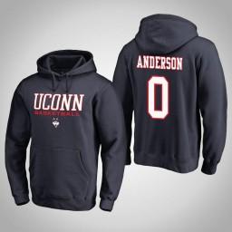 Uconn Huskies #0 Antwoine Anderson Men's Navy College Basketball Hoodie