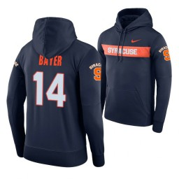 Syracuse Orange #14 Braedon Bayer Men's Navy Pullover Hoodie