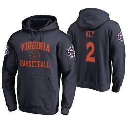 Virginia Cavaliers #2 Braxton Key Men's Navy College Basketball Hoodie