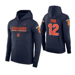 Syracuse Orange #12 Brendan Paul Men's Navy Hoodie
