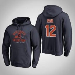 Syracuse Orange #12 Brendan Paul Men's Navy Pullover Hoodie