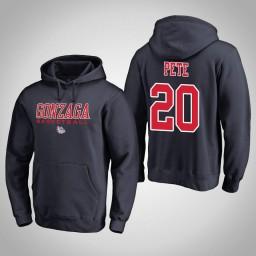 Gonzaga Bulldogs #20 Brian Pete Men's Navy College Basketball Hoodie