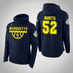 Marquette Golden Eagles #52 Cam Marotta Men's Navy College Basketball Hoodie