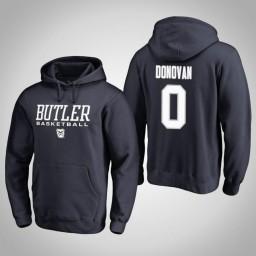 Butler Bulldogs #0 Campbell Donovan Men's Navy College Basketball Hoodie